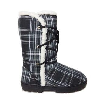 Schneeschuhe für Damen mit Futter - schwarze Schuhe