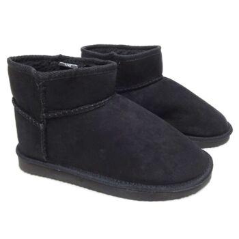 Schwarze Frauen Winterstiefeletten mit Futter - Schuhe