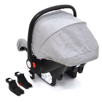 Babyschale Gruppe 0+ Bebesafe von Daliya - incl. Adapter für Kinderwagen - ab Geburt - Kindersitz Autositz - Farbe Elegance-Grau