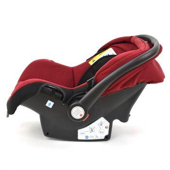 Babyschale Gruppe 0+ Bebesafe von Daliya - incl. Adapter für Kinderwagen - ab Geburt - Kindersitz Autositz - Farbe Bordeaux-Rot