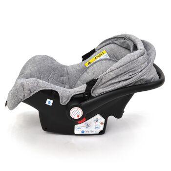 Babyschale Gruppe 0+ Bebesafe von Daliya - incl. Adapter für Kinderwagen - ab Geburt - Kindersitz Autositz - Farbe Grau