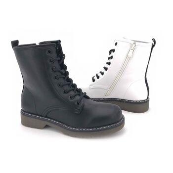 Damen Woman Trend Boots Stiefeletten Outdoor Stiefel Schnürboots Reißverschluss Halbstiefel Schuhe Schuh Shoes Business Freizeit - 14,49 Eur