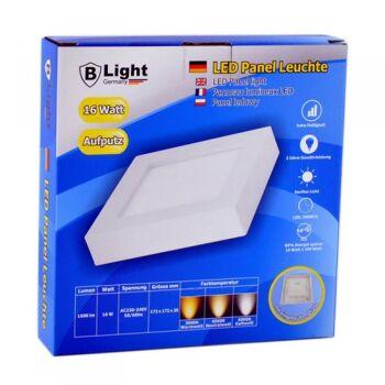 LED Aufputz Panel - 16 Watt - Quadrat (Warmweiß)