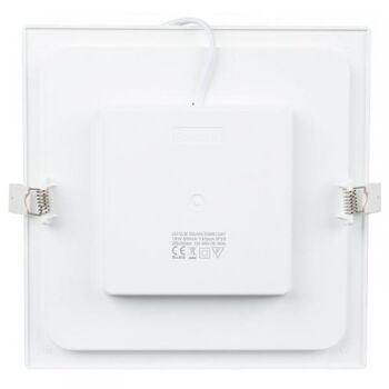 LED Unterputz Panel - 9 Watt - Quadrat (Warmweiß)