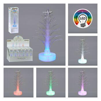 17-91589, LED Weihnachtsbaum 13 cm mit Stern mit Farbwechsel, Tannenbaum