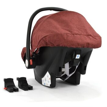 Babyschale Gruppe 0+ Bebesafe von Daliya - incl. Adapter für Kinderwagen - ab Geburt - Kindersitz Autositz - Farbe Elegance-Rot