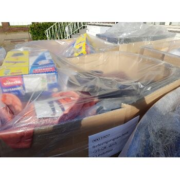 Paletten einer großen Supermarktkette Haushalt Spielzeug Kleinelektro Textilien Kitchen Aid