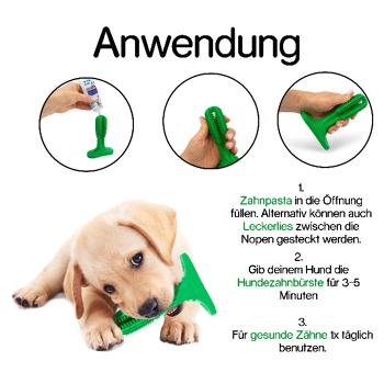 Hundezahnbürste 2in1 Set mit Reinigungstool