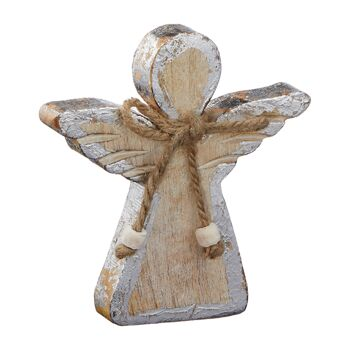 17-47062, Holz Engel 11 cm, mit Jute Schleife