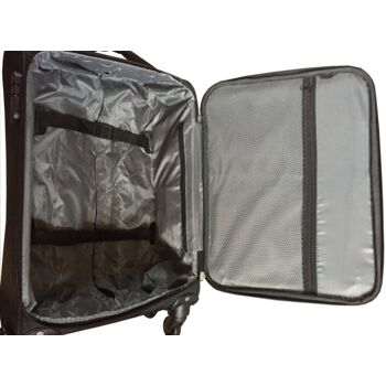 Reisekoffer Koffer Trolley Boardcase Stoff Stoffkoffer Handgepäck 40 Liter USB