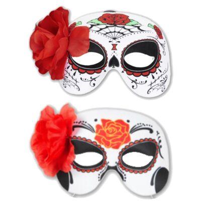 Halloween Halbmasken La Catrina