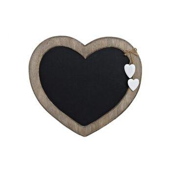 Memotafel aus Holz, mit zwei Herzen, B30 x H27 cm