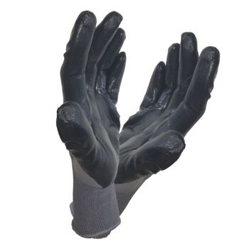 Graue 'Maxx Grip' Arbeitshandschuhe Größe XL