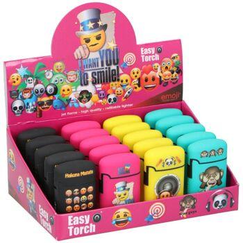 28-028654, Feuerzeug elektronisch Emoji, nachfüllbar, Sturmfeuerzeug