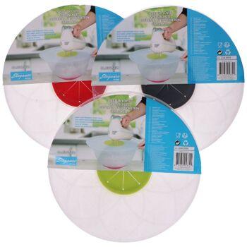 28-053721, Spritzschutz für Rührschüssel 29,5 cm, mit mittiger Aussparung für Handmixer