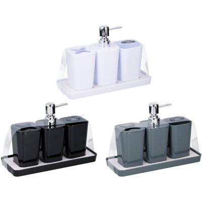 28-059983, Badezimmer-Set 4 teilig, mit Seifenspender, usw