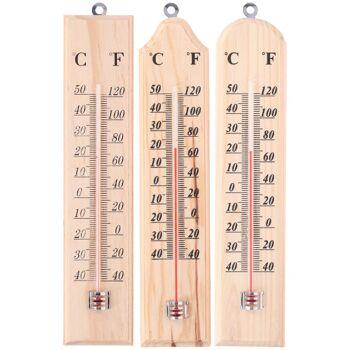 28-085623, Thermometer Holz 36 cm, für Innen und Aussen