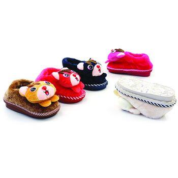 Baby Kinder Trend Tiere Hausschuhe Eichhörnchen Slipper Pantoffeln Schuhe Shoes nur 2,90 Euro