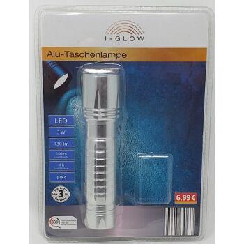 12-25433067, Alu LED Taschenlampe mit Batterien und Laternenfunktion  3W  100m Reichweite, statt 6,99 - DISCOUNTER SONDERPOSTEN