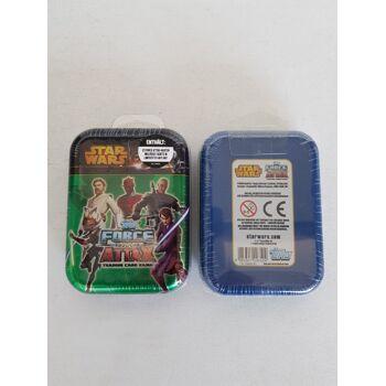 12-7007536, Star Wars Metall Sammelbox, Clone Wars inkl. 24 Force Attax Karten, Trading Card Game