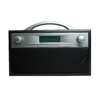 Elta DAB Radio Holzgehäuse schwarz/grau