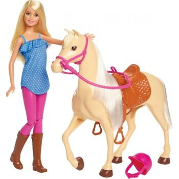 Barbie® Pferd & Puppe