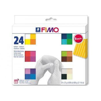 FIMO soft Basic Colours 24 Stück