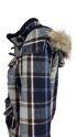 Blaue Winterjacken für Damen mit abnehmbarem Hoodie