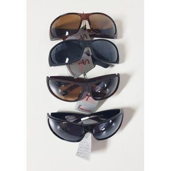 Braune und schwarze, matte und glänzende Sonnenbrille