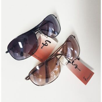 Braune und schwarze Unisex-Sonnenbrille TH9003