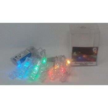 12-541520, Lichterkette Wäscheklammern 10er farbig leuchtend