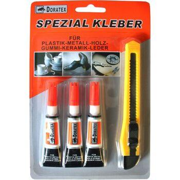 28-751170, Spezialkleber 3er Set, mit Cuttermesser im Set