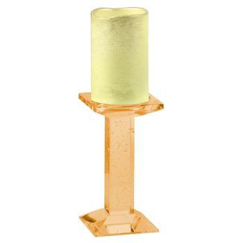 28-823587, LED Stumpenkerze auf Glas Kerzenständer - SONDERPOSTEN