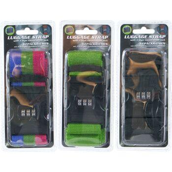 28-965468, Koffergurt mit Zahlenschloß, Kofferband Gepäckriemen Riemen Gepäckband