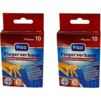 Pflaster Fingerverband 12 x 2 cm 10er Pack, elastisch und stabil in Faltschachtel