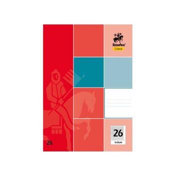 Schulheft A4, kariert, 16 Blatt, Lineatur 26, Markenware, Papierstärke ca. 80 g/m²