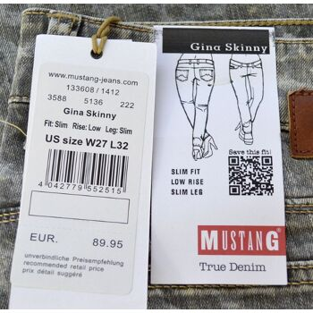 Mustang Gina Skinny Slim Fit Damen Stretch Jeans Hosen 1-1224
