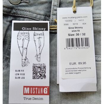 Mustang Gina Skinny Slim Fit Low Rise Damen Stretch Jeans Hosen 10-1419