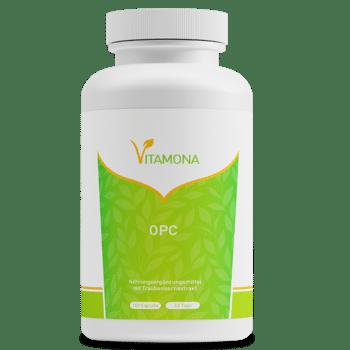 Vitamona OPC Traubenkernextrakt - 180 Kapseln Vegan hochdosiert Vitamin C Sonderposten