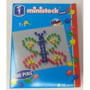 12-542722, Steckspiel MINISTECK mit 100 PINS, fördert Feinmotorik und Konzentration