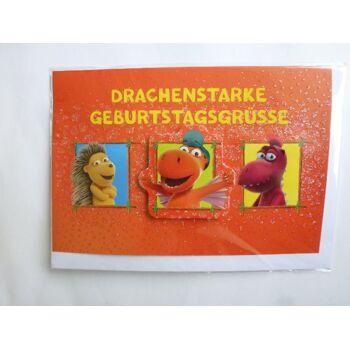 3D Glückwunschkarte Der kleine Drache Kokosnuss, Drachenstarke..., Geschenkkarten, Glückwunschkarten