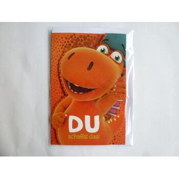 3D Glückwunschkarte Der kleine Drache Kokosnuss, Du schaffst das, Geschenkkarten, Glückwunschkarten