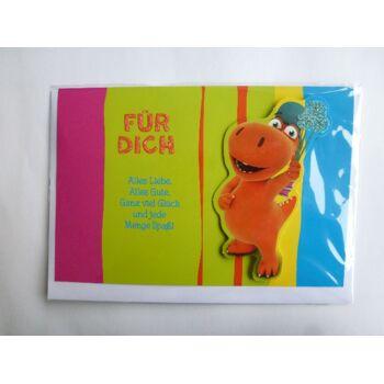 3D Glückwunschkarte Der kleine Drache Kokosnuss, Für Dich...., Geschenkkarten, Glückwunschkarten