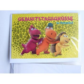 3D Glückwunschkarte Der kleine Drache Kokosnuss, Geburtstagsgrüss in....., Geschenkkarten, Glückwunschkarten