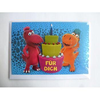 3D Glückwunschkarte Der kleine Drache Kokosnuss, Torte Für Dich, Geschenkkarten, Glückwunschkarten