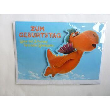 3D Glückwunschkarte Der kleine Drache Kokosnuss, Zum Geburtstag ganz viel..., Geschenkkarten, Glückwunschkarten