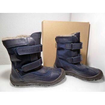 Bisgaard gefütterte Leder Stiefel blau 61017.217 Gr.40
