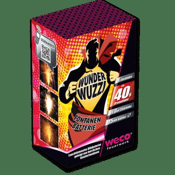 Wunderwuzzi WECO Fontänen Feuerwerk Silvester Batterie