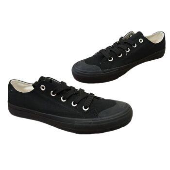 Damen Trend Sneaker Uni Schwarz Schnür Schuhe Schuh Shoes Sportschuhe Freizeit nur 1,95 Euro