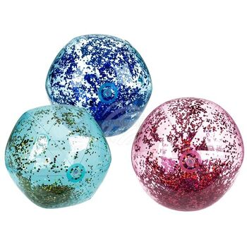 Aufblasbarer Wasserball mit Glitter, D: ca. 50 cm